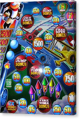 Pinball Wizard-the Signs Of The Times Collection Canvas Print