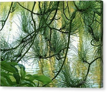 Pine Needles Patchwork Canvas Print