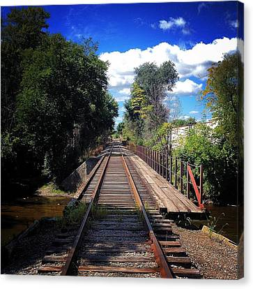 Pine River Railroad Bridge Canvas Print