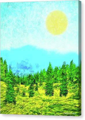 Pine Tree Mountain Blue - Shasta California Canvas Print