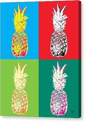 Pineapple 33 Canvas Print by Flo Ryan