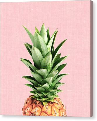 Pineapple Canvas Print - Pineapple And Pink by Vitor Costa