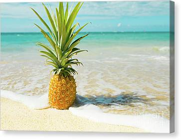 Canvas Print featuring the photograph Pineapple Beach by Sharon Mau
