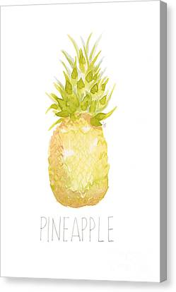 Pineapple Canvas Print by Cindy Garber Iverson