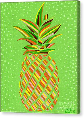 Canvas Print - Pineapple Delight by Kasia Bitner