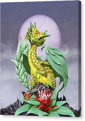 Pineapple Dragon Canvas Print by Stanley Morrison