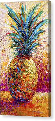 Pineapple Expression Canvas Print by Marion Rose
