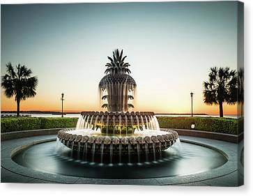 Pineapple Fountain, Charleston Canvas Print by Ivo Kerssemakers