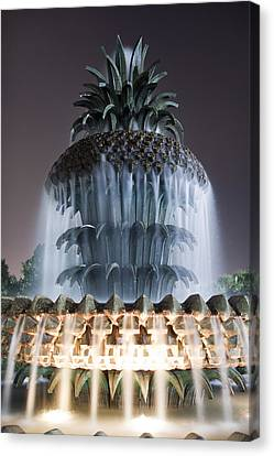 Pineapple Fountain Charleston Sc Canvas Print by Dustin K Ryan