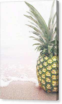 Pineapple Canvas Print - Pineapple On The Beach by Happy Home Artistry