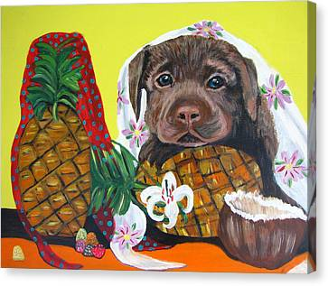 Pineapple Puppy Canvas Print