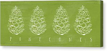Pinecones-art By Linda Woods Canvas Print