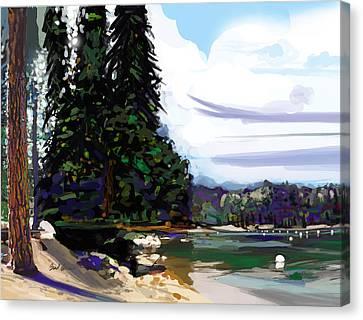Pinecrest Lake Canvas Print