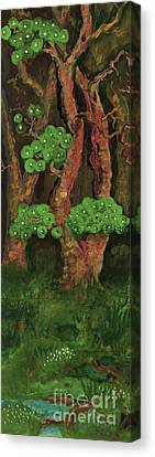 Polonia Artists Canvas Print - Pines By The Brook by Anna Folkartanna Maciejewska-Dyba