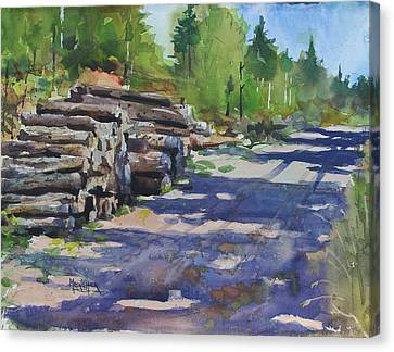 Piney Creek Trestle Road Canvas Print by Spencer Meagher