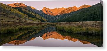 Canvas Print featuring the photograph Piney River Panorama by Aaron Spong
