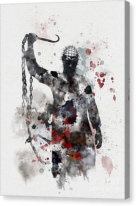 Barker Canvas Print - Pinhead by Rebecca Jenkins
