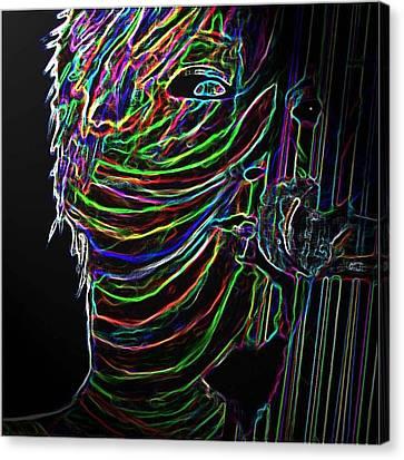 Pink 2 Digital Canvas Print by Karen Elzinga