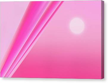 Modern Canvas Print -  Pink Abstract by Art Spectrum