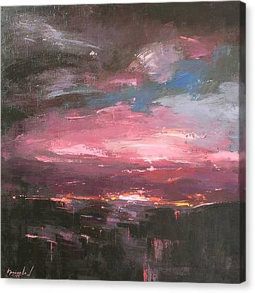 Canvas Print featuring the painting Pink by Anastasija Kraineva