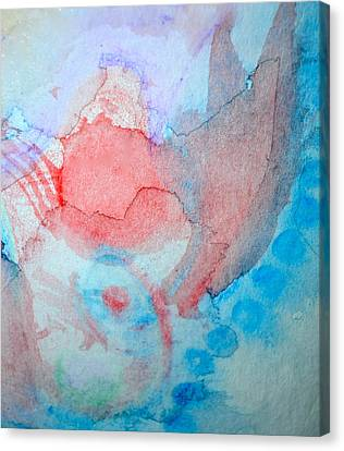 Pink And Blue Canvas Print by Paula Deutz
