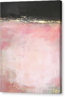 Pink And Gold - Again Canvas Print by Anahi DeCanio