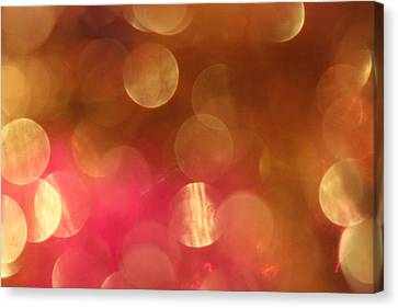 Pink And Gold Shimmer- Abstract Photography Canvas Print by Linda Woods