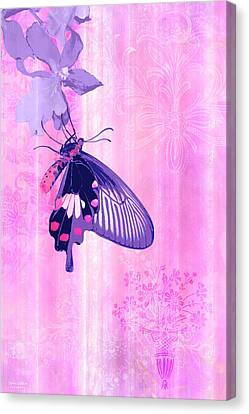 Pink And Purple Companions 1 Canvas Print