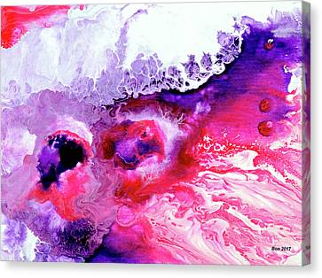 Merging Canvas Print - Pink And Purple Melting Pot by Bonnie Baker