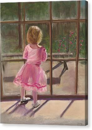 Pink Ballerina Canvas Print by Kathy Wood