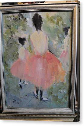 Pink Ballet Canvas Print by Les Smith