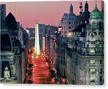 Canvas Print featuring the photograph Pink Buenos Aires  by Bernardo Galmarini
