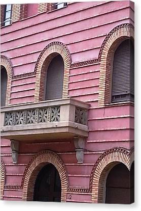 Pink Building Barcelona Canvas Print