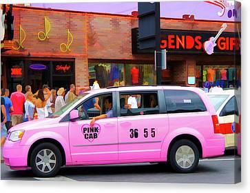 Pink Cab Canvas Print by Art Spectrum