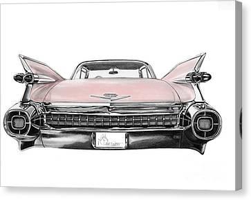 Pink Cadillac Canvas Print by Murphy Elliott