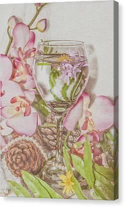 Pink Cheers Canvas Print by Pamela Williams