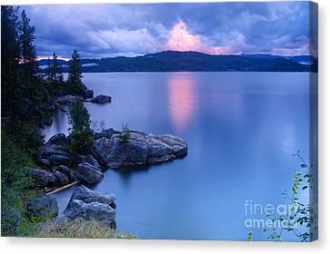 Pink Cloudbreak Canvas Print by Idaho Scenic Images Linda Lantzy