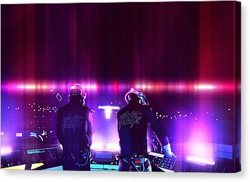 Pink Daft Punk - 61 Canvas Print by Jovemini ART
