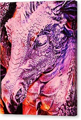 Pink-dragon Canvas Print by Ramon Labusch