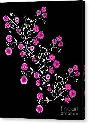 Pink Floral Explosion Canvas Print by Methune Hively