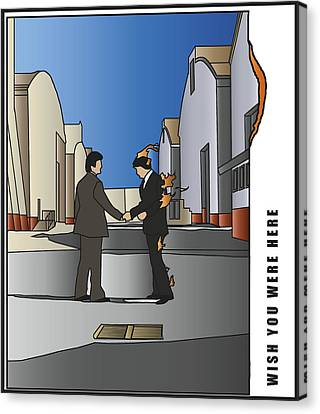 Pink Floyd - Wish You Were Here Canvas Print by Tomas Raul Calvo Sanchez
