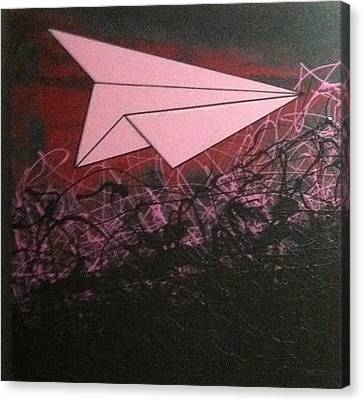 Pink Flyer Canvas Print by Roxanne Green