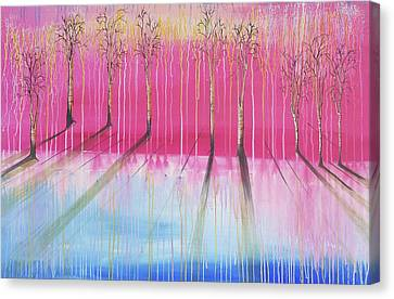 Weaping Canvas Print - Pink Forest by Cat Crimson