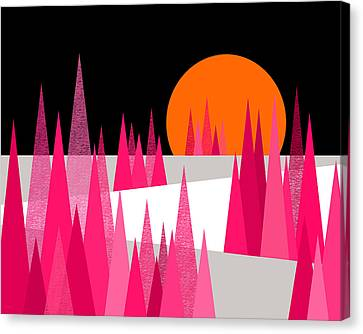 Pink Forest Canvas Print by Val Arie