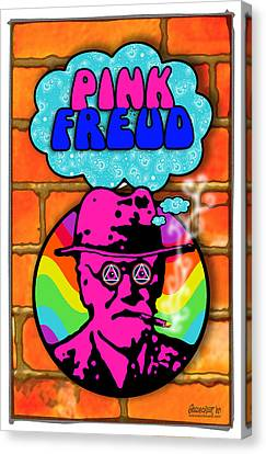 Freud Canvas Print - Pink Freud by John Goldacker