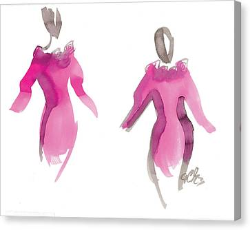 Pink Girls Canvas Print by Carl Griffasi