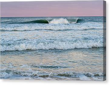 Pink Horizon Seaside New Jersey Canvas Print by Terry DeLuco