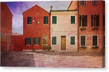 Canvas Print featuring the photograph Pink Houses by Anne Kotan