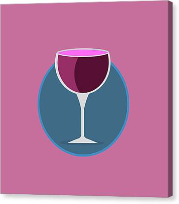 Pink Icon Of The Wine Canvas Print