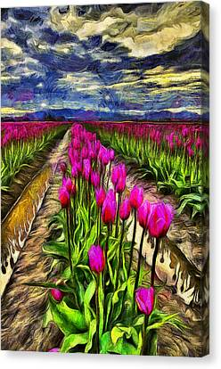 Pink Impression 2 Canvas Print by Mark Kiver